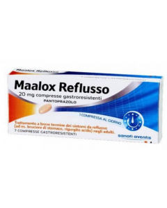 MAALOX REFLUSSO 7 COMPRESSE 20MG